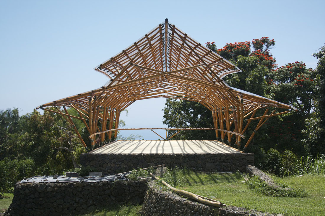 Bamboo Wave Pavilion Hawaii Construction
